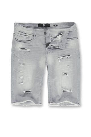 Big Men's Wynwood Denim Shorts (Cement Wash)