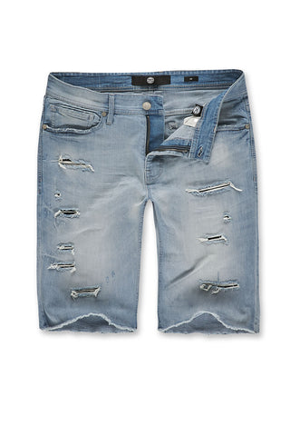 Jordan Craig - Big Men's Wynwood Denim Shorts (Ice Blue)