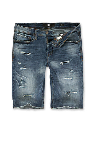 Big Men's Wynwood Denim Shorts (Studio Blue)
