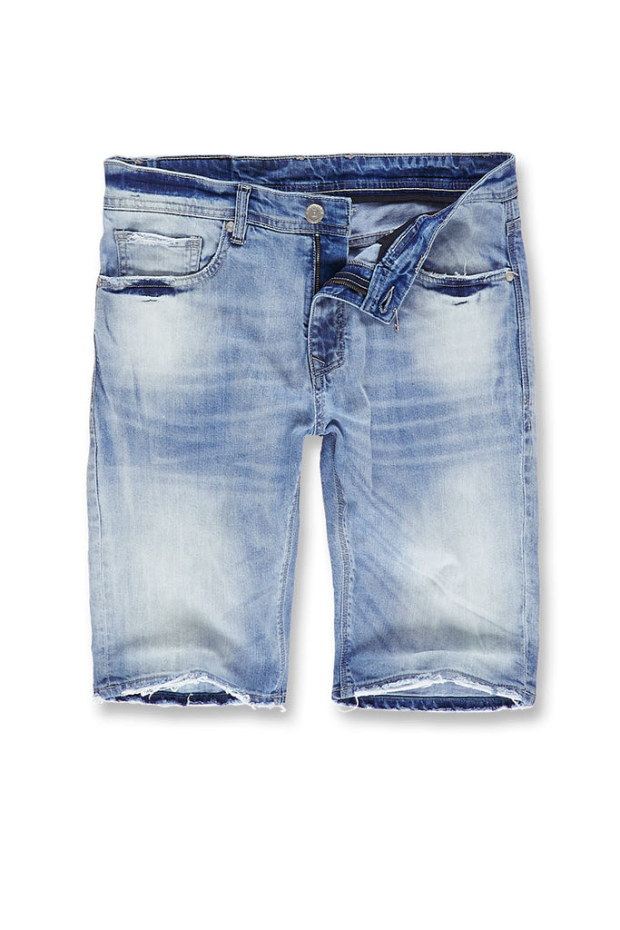e95d996af37e Big Men s Newcastle Denim Shorts 2.0 (Ice Blue) – Jordan Craig