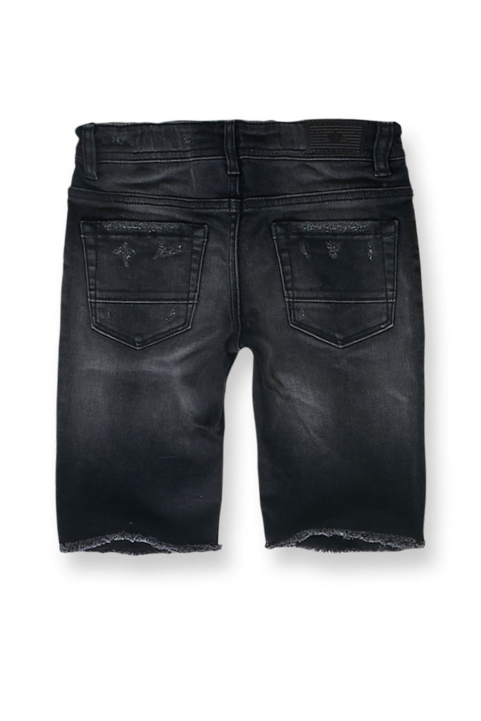 Jordan Craig - Kids Edison Denim Shorts (Black Shadow)