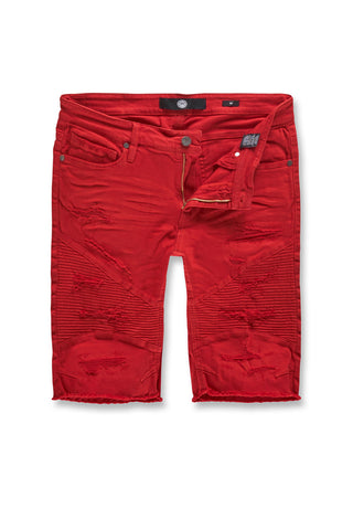 Rebel Moto Twill Shorts (Red)