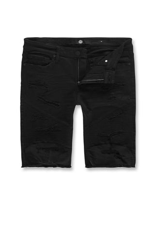 Jordan Craig - Kids Rebel Moto Twill Shorts (Jet Black)