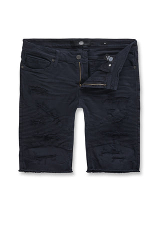 Jordan Craig - Kids Rebel Moto Twill Shorts (Navy)