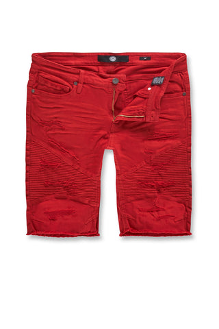 Jordan Craig - Kids Rebel Moto Twill Shorts (Red)