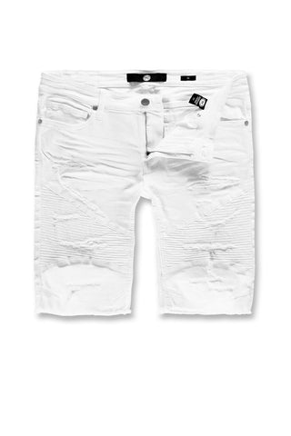 Jordan Craig - Kids Rebel Moto Twill Shorts (White)