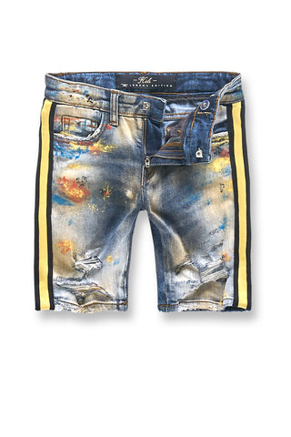 Kids Talladega Denim Shorts (Burning Man)