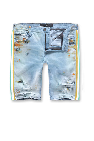 Kids Talladega Denim Shorts (Iced Neon)