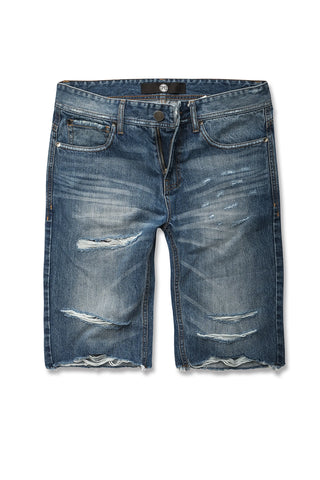 Jordan Craig - Cali Denim Shorts (Medium Blue)