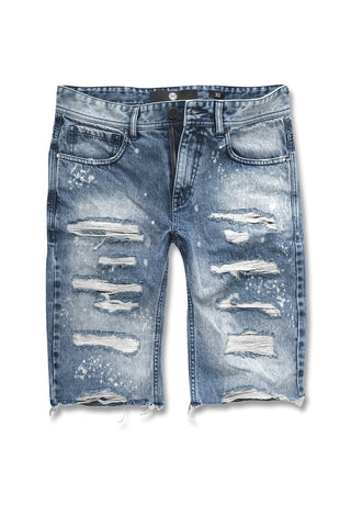Jordan Craig - Justice Denim Shorts (Destroyed Blue)