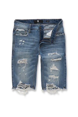 Jordan Craig - Cypress Distressed Denim Shorts (Aged Wash)