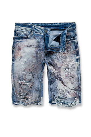 Jordan Craig - Fuji Denim Shorts (Blue Wave)