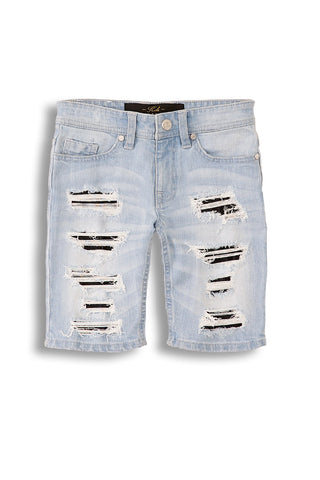 Jordan Craig - Kids Barracuda Denim Shorts (Ice Blue)