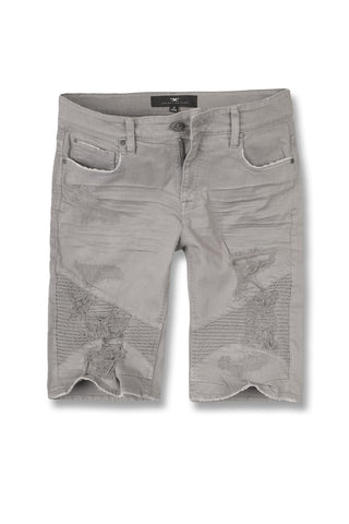 Jordan Craig - Big Men's Savior Biker Shorts (Light Grey)