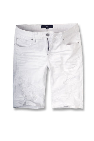 Jordan Craig - Big Men's Savior Biker Shorts (White)