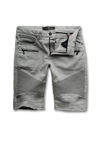 Jordan Craig - Big Men's Capone Biker Shorts (Light Grey)