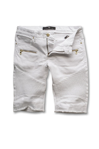 Jordan Craig - Big Men's Capone Biker Shorts (White)