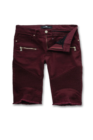 Jordan Craig - Big Men's Capone Biker Shorts (Wine)