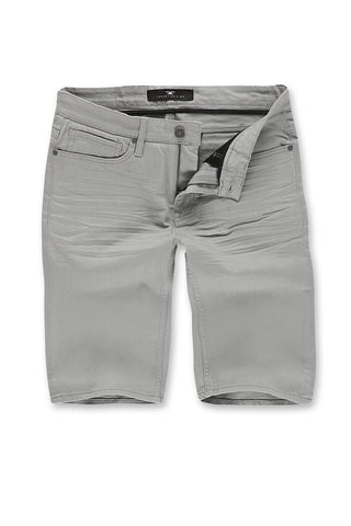 Jordan Craig - Big Men's Nashville Slub Shorts 2.0 (Light Grey)
