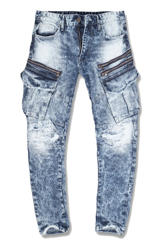 Xavier - New School Cargo Denim (Destroyed Blue)