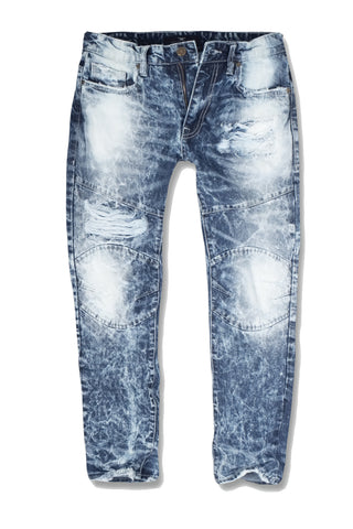 Jordan Craig - Kids - New School Moto Denim (Destroyed Blue)