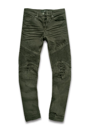 Jordan Craig - Big Men's Savior Biker Denim (Army Green)