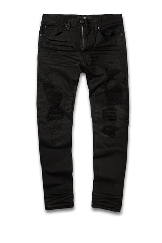 Jordan Craig - Big Men's Savior Biker Denim (Black)