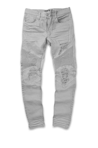 Jordan Craig - Big Men's Savior Biker Denim (Light Grey)