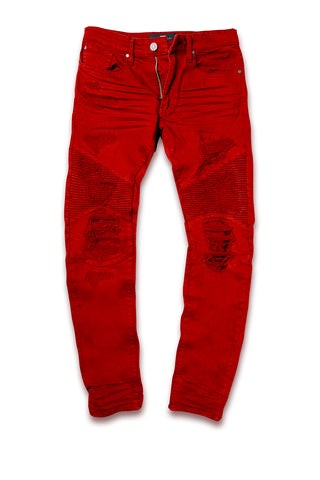 Jordan Craig - Big Men's Savior Biker Denim (Red)