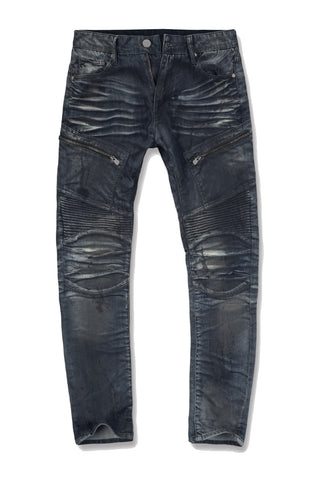 Jordan Craig - Aaron - Crude Moto Denim (Oil Blue)