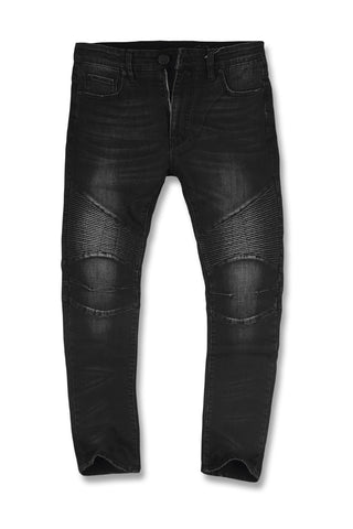 Jordan Craig - Big Men's Aaron - Lincoln Moto Denim (Black)
