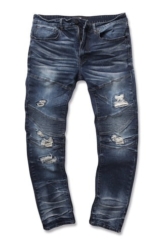 Jordan Craig - Aaron - Outlaw Moto Denim (Dark Blue)