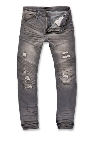 Aaron - Outlaw Moto Denim (Light Grey)