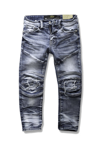 Kids - Bolton Moto Denim (Aged Wash)