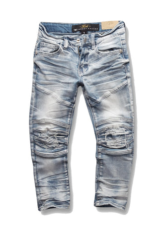 Kids - Bolton Moto Denim (Arctic Wash)
