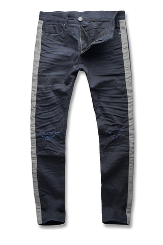 Sean - Contrast Stripe Denim (Navy)