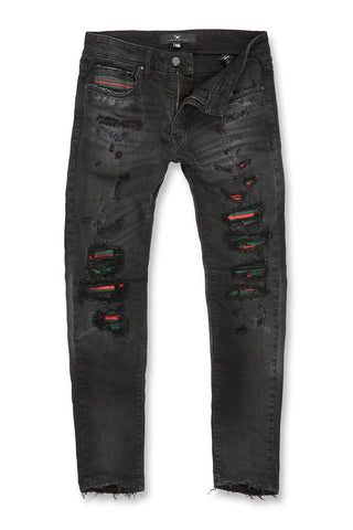 Jordan Craig - Aaron - Destroyed Florence Denim 2.0 (Black)