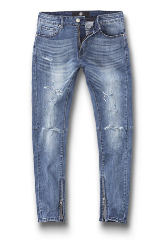 Sean - Cambridge Zipper Denim (Aged Wash)