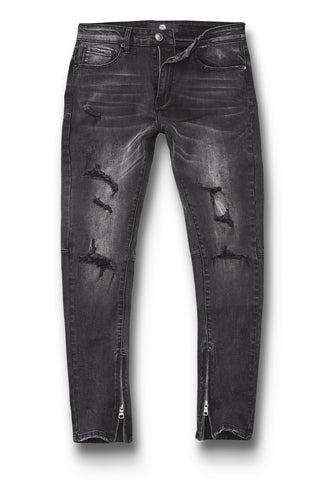 Sean - Cambridge Zipper Denim (Black)