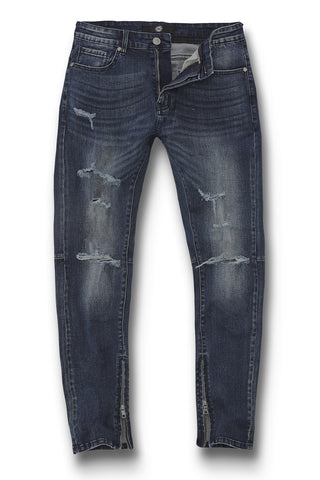 Sean - Cambridge Zipper Denim (Dark Blue)