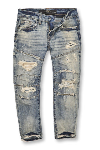 Jordan Craig - Kids Geneva Moto Denim (Antique)