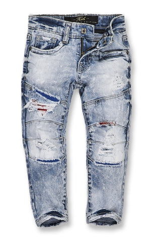 Jordan Craig - Kids Geneva Moto Denim (Ice Blue)