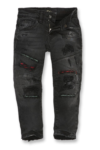 Jordan Craig - Kids Geneva Moto Denim (Black)