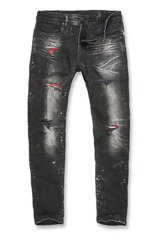 Jordan Craig - Big Men's Aaron - Tuscany Denim (Black)