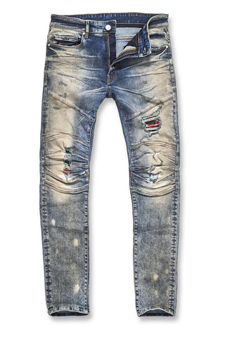 Jordan Craig - Big Men's Aaron - Roma Moto Denim (Antique)