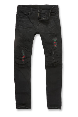 Jordan Craig - Big Men's Aaron - Roma Moto Denim (Jet Black)