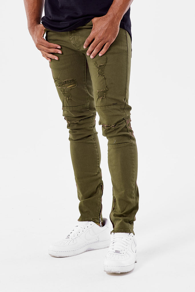 Jordan Craig - Sean - Revolt Twill Pants (Army Green)