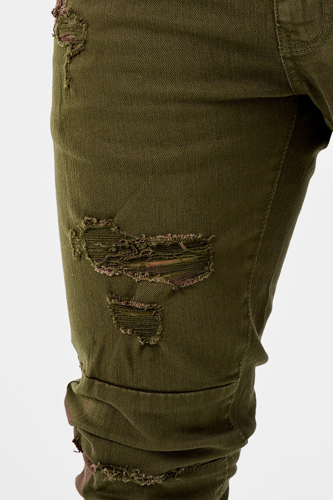 Sean - Revolt Twill Pants (Army Green)
