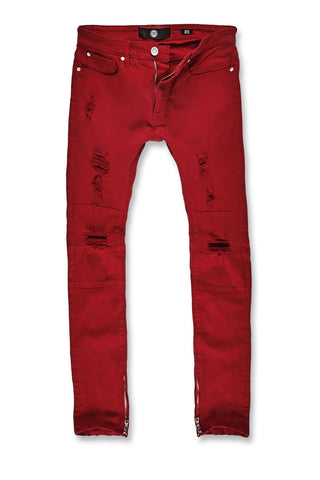 Sean - Revolt Twill Pants (Red)