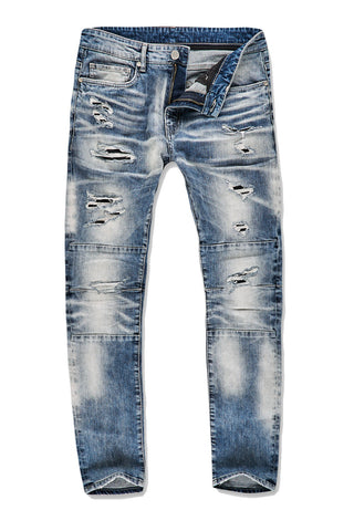 Sean - Malibu Moto Denim (Destroyed Blue)